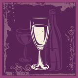 Wine Ornamental Background. Wine related background, great for celebration and wedding invitations Royalty Free Stock Image