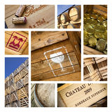Wine packaging Royalty Free Stock Photos
