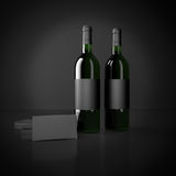 Wine and packing bags Royalty Free Stock Photos