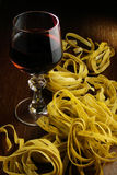 Wine and pasta Royalty Free Stock Images