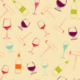 Wine pattern Royalty Free Stock Photography