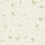 Wine pattern Royalty Free Stock Images