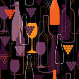 Wine pattern Stock Photography