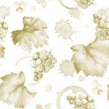 Wine pattern Stock Photo