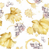 Wine pattern Royalty Free Stock Photos