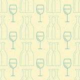 Wine Pattern Royalty Free Stock Image