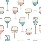 Wine Pattern Stock Photography