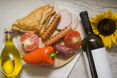 Wine&picnic 库存照片