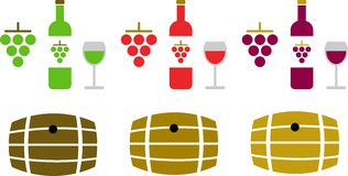 Wine pictograms Stock Photo