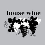 Wine poster black and white Royalty Free Stock Images