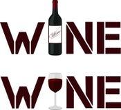Wine poster Stock Photos