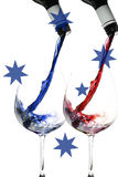 Wine pour in Australian colours Royalty Free Stock Image
