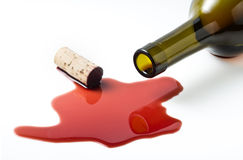 Wine pour from bottle Royalty Free Stock Photo