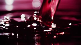Wine Pour_002. Wine Pour red liquid slowmotion stock video