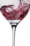 Wine is poured into glass Royalty Free Stock Photo