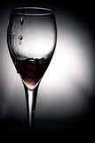 Wine pouring. In an  glass Royalty Free Stock Photos