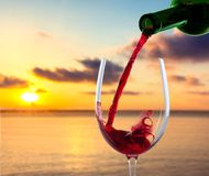 Wine Pouring Royalty Free Stock Photos