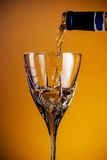 Wine Pouring Glass Stock Photos