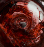 Wine pouring inside the bottle Royalty Free Stock Photo
