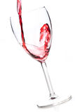 Wine pouring into wine glass Stock Photo