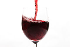Wine pouring wineglass Royalty Free Stock Photo