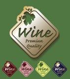 Wine premium quality golden set colours. Illustration Royalty Free Stock Image