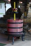 Wine press. Old wine press on farm in vineyard Stock Photo