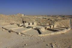 Wine press at Ancient Avdat roman village royalty free stock photo