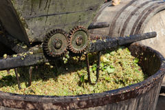 Wine press. In use in Romania Royalty Free Stock Photography