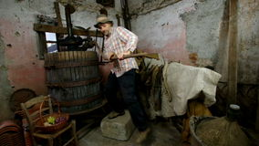 Wine press stock video