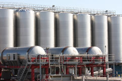 Wine-producing factory in Zapponeta, Italy Stock Image