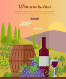 Wine Production Banner. Poster for Red Vine Stock Photo