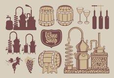 wine production Royalty Free Stock Photo