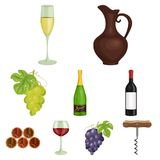 Wine products. Growing grapes, wine.Vine production icon in set collection on cartoon style vector symbol stock. Web illustration vector illustration