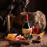 Wine and prosciutto Royalty Free Stock Photo