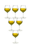 Wine pyramid Royalty Free Stock Image