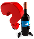 Wine and question Royalty Free Stock Photos