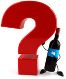Wine and question Stock Image
