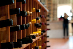 Wine rack Stock Images