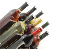 Wine rack. With a few bottles Royalty Free Stock Photos