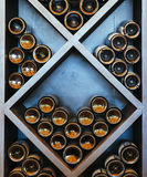 Wine rack. Bottle of wine Royalty Free Stock Images
