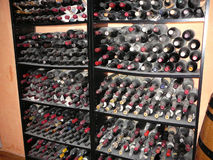 Wine rack Stock Image