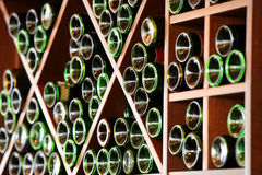 Wine racks Stock Photo
