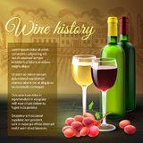 Wine Realistic Background Royalty Free Stock Images