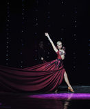 Wine red dress-India memories-the Austria's world Dance Stock Photo