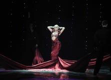 Wine red dress-India memories-the Austria's world Dance Stock Photo
