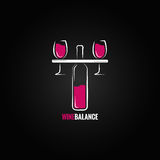 Wine red and white balance concept design Royalty Free Stock Images