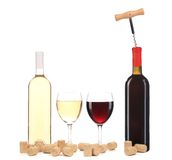 Wine red and white composition. Stock Image