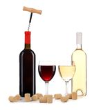 Wine red and white composition. Royalty Free Stock Photos