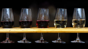 Wine. Red and white wine with good flavor and taste Royalty Free Stock Photography